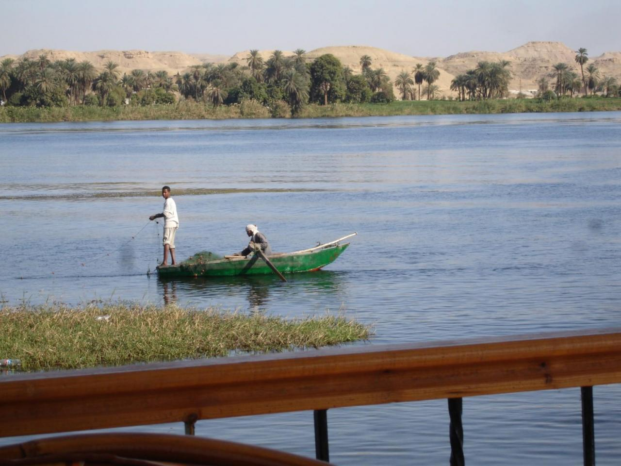 scène de pèche sur le Nil