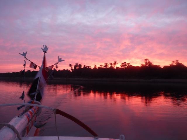 lever de soleil sur le Nil Decembre 2014